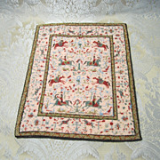 Vintage Petitpoint Rug for Doll Display
