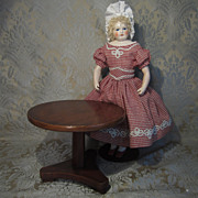 Miniature Tilt-top Table in Mahogany for French Fashion