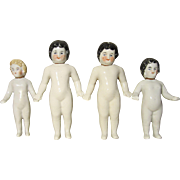 4 Frozen Charlotte Bottle Dolls - Antique