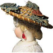 Antique Straw Chinoise Style Hat for French Fashion