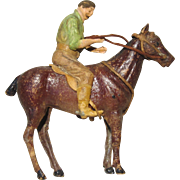 German Dresden Christmas Ornament - Horse and Rider