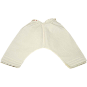 Terrific Pair of Antique Pantaloons for French Fashion - Initialed