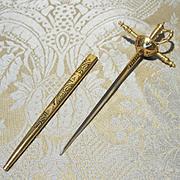 Miniature Gilt Spanish Sword - Vintage, Doll Size
