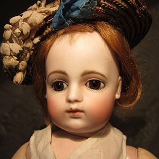"""14"""" Block Letter FG Bebe With Early Original Body - Sublime!"""