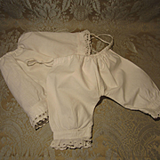 Matched Set of Drawers and Petticoat for French Bebe