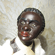 "13"" Neapolitan Creche Nubian Exotic Figure - Partially Costumed - Vintage"