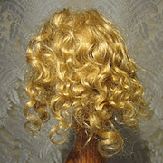 """Small 6 1/2"""" Mohair Wig - French - Vintage"""