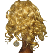 "Small 6 1/2"" Mohair Wig - French - Vintage"