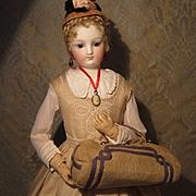 Linen Railway Rug Satchel for French Fashion - Antique Original