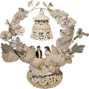 Antique 1890's Plaster Wedding Cake Topper