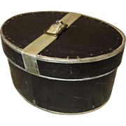 Black Hatbox For French Fashion - Period Antique