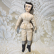 Adorable Antique Needle Sculpted Cloth Boy Doll - 5 1/2""