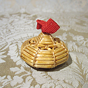 Tiny Bourrelet Bonnet for Mignonette or Other All-Bisque Doll