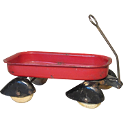 Adorable Miniature Red Wagon for Doll Display - Wyandotte