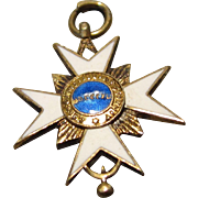 Miniature Medal for French Fashion Gentleman - White Cross W/ Blue Center