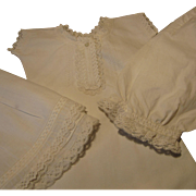 Extra-fine Set of Undergarments - Period Antique - For Larger French Bebe