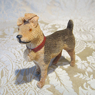 Miniature Vintage Velveteen Terrier as Companion to Your Favorite Dolls