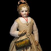 Antique Miniature Vasculum For Doll Accessory