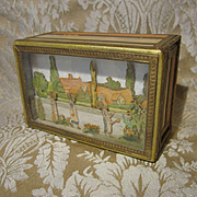 Small Box With Dimensional Diorama in Lid - Attributed to Narcissa Thorne, Circa 1940