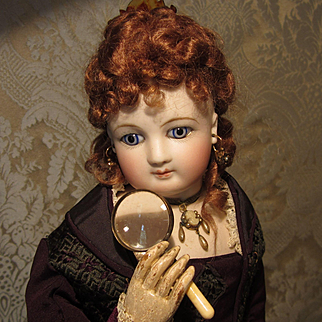 Fine Antique Miniature Magnifying Glass for French Fashion Doll