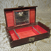 Fancy Silk Lined Leather Jewel Box for French Fashion