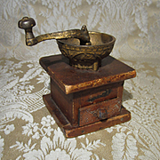 Antique Miniature Coffee Grinder for Doll Display