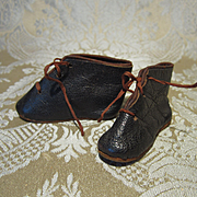 Antique Flat Boots for French Fashion - Size 3