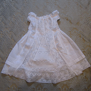 Outstanding Embroidered Dress for Large Bebe