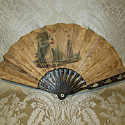 Early 19th Century Miniature Fan For Child or Doll