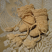 Precious Tiny Knit Antique Boots