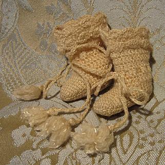 Precious Tiny Knit Antique Boots