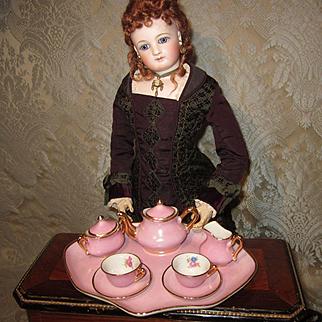 Miniature Pink Tea Set by Limoges