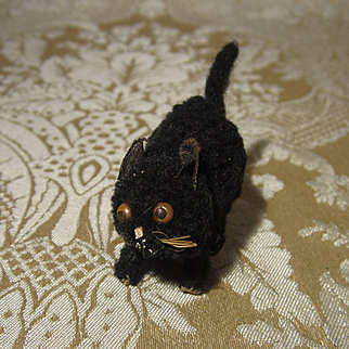 Whimsical Tiny Kitty for Dollhouse or Other Doll Display