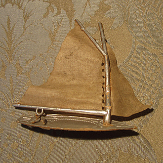 German Dresden Christmas Ornament - Sailboat - Partial