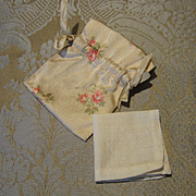 Silk Handkerchief Bag With Hankie for French Fashion