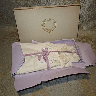 Antique Set of 3 Bebe Undergarments in Antique French Box