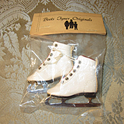 Vintage Ice Skates for Modern Doll Wardrobe - Mint in Package