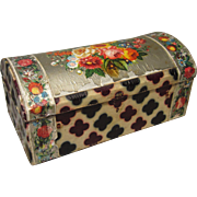 Late 1800's Small Box with Printed Paper Covering