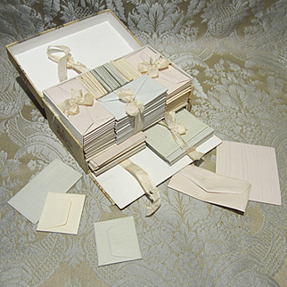 Miniature Doll Stationery Boxed Set - Antique Circa 1900