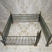 Antique Victorian Metal Folding Fence for Christmas, Putz or Dollhouse Scenes