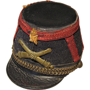 Antique French 'Shako' Miniature Military Hat for French Fashion Officer