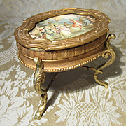 Splendid Gilt Bronze Miniature Antique Table for Display With Small Dolls