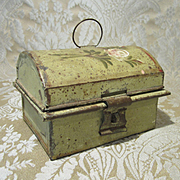 Miniature Toleware Dome Lid Box for Doll Display