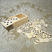 Antique Miniature Domino Set for French Bebe or German Character