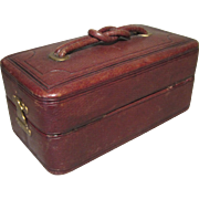 Handsome Lady's Vanity/Sewing Case - May Be Used for Doll Trunk
