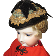 Flattering Antique Hat for French Fashion Doll