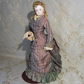 Original Antique Walking Suit for French Fashion - Silk, Circa 1870 - 75