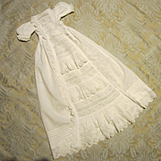 Lavish Antique Christening Gown - Doll Size