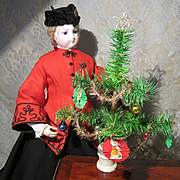 """Antique Feather Tree for Christmas - 10 1/2"""" - #2"""