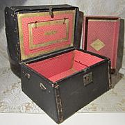 Jenny Lind Style Trunk - Antique - Ideal for Izannah Walker Trousseau